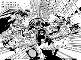 PUNISHER #9 black and white preview art by Tan Eng Haut