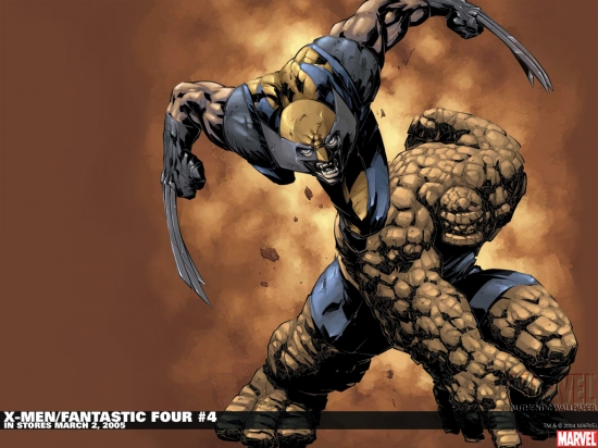 X-Men/Fantastic Four (2004) #4 Wallpaper