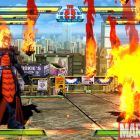 Screenshot of Dormammu and Morrigan from Marvel vs. Capcom 3
