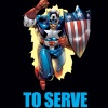 CAPTAIN AMERICA: TO SERVE &amp; PROTECT PREMIERE HC cover by Ron Garney
