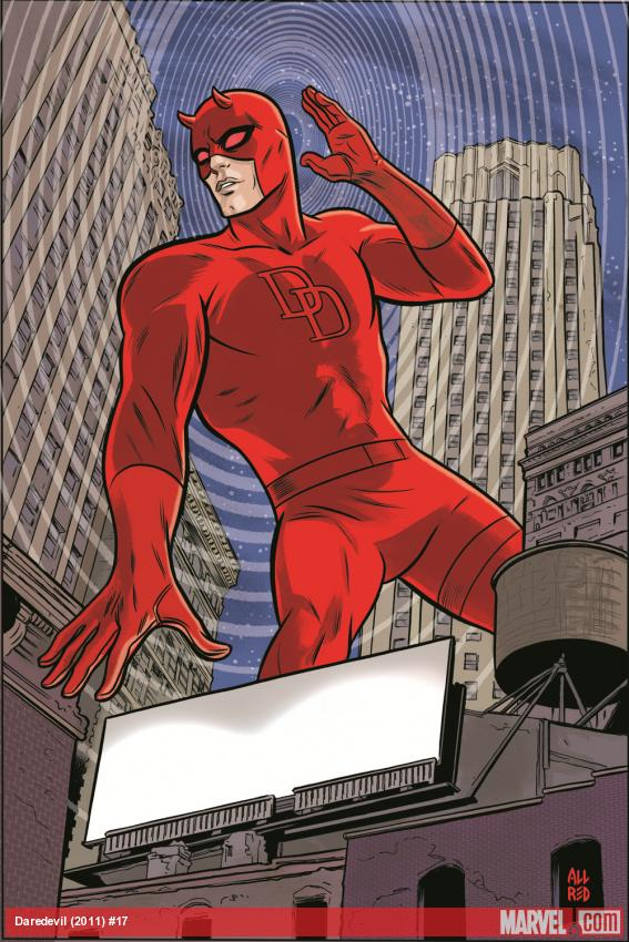 Daredevil (2011) #17 cover by Mike Allred