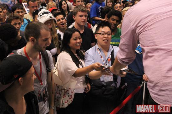 The Marvel booth at Fan Expo 2012