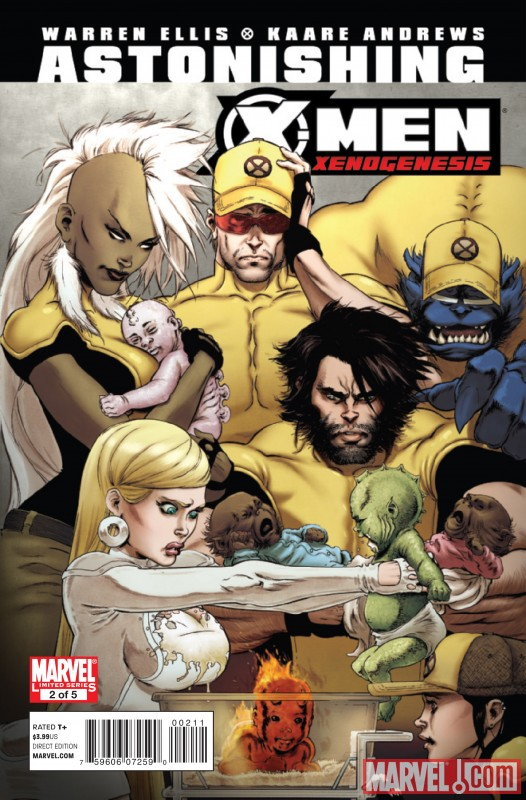 ASTONISHING X-MEN: XENOGENESIS #2 cover by Kaare Andrews