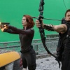 Scarlett Johansson and Jeremy Renner star as Black Widow and Hawkeye in Marvel's The Avengers