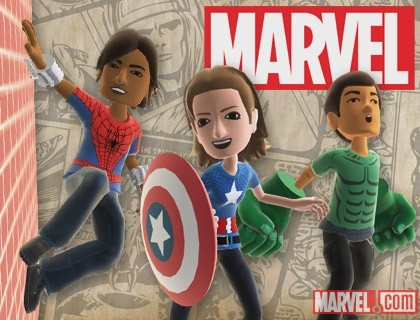 Spider-Man, Captain America & Hulk gear for Xbox avatars