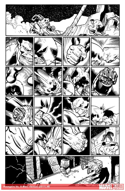 AvX: VS #3 inked preview art by Ed McGuinness