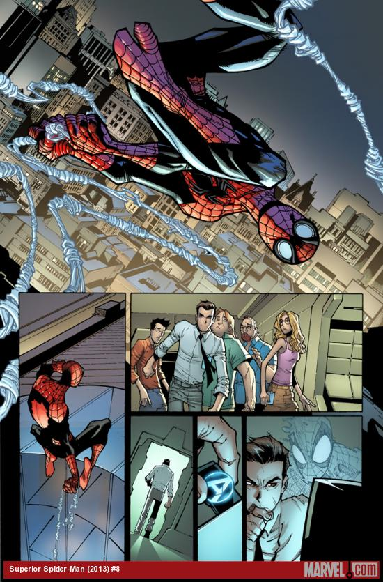 Superior Spider-Man #8 preview art by Humberto Ramos