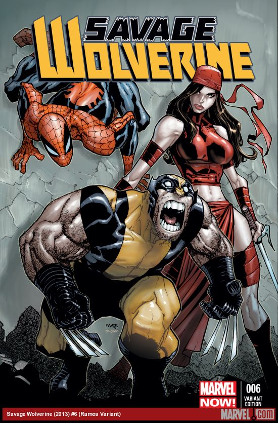 SAVAGE WOLVERINE 6 RAMOS VARIANT (NOW, 1 FOR 50, WITH DIGITAL CODE)