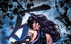 Psylocke #1 cover by David Finch