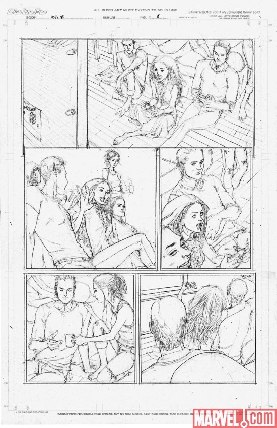 CAPTAIN BRITAIN AND MI13 ANNUAL #1 pencil art by Michael Collins
