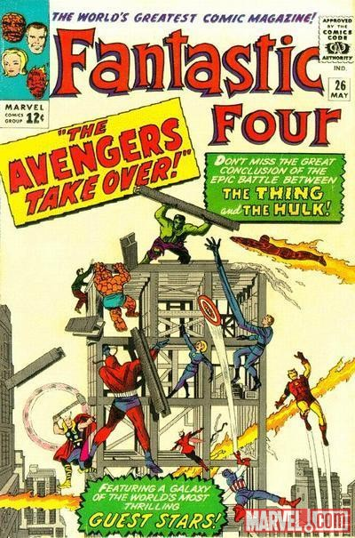 Image Featuring Wasp, Avengers, Hank Pym, Captain America, Fantastic Four, Hulk, Human Torch, Invisible Woman, Iron Man, Mr. Fantastic, Thing