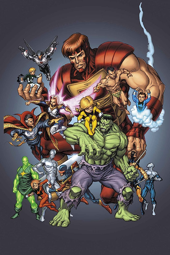 OFFICIAL HANDBOOK OF THE MARVEL UNIVERSE (1999) (TEAMS) COVER