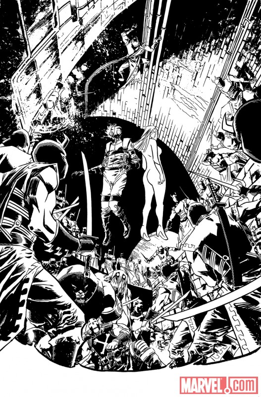 THUNDERBOLTS #148 black and white preview art by Declan Shalvey 7