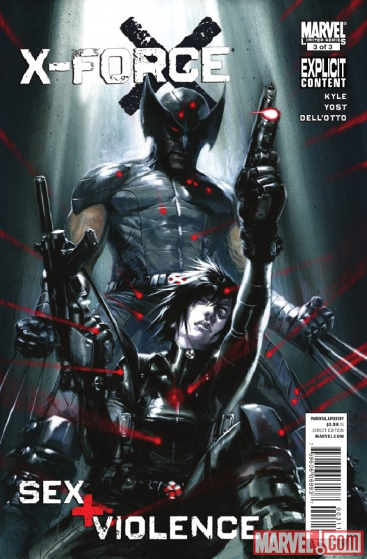 X-FORCE: SEX AND VIOLENCE #3 cover art by Gabriele Dell'Otto