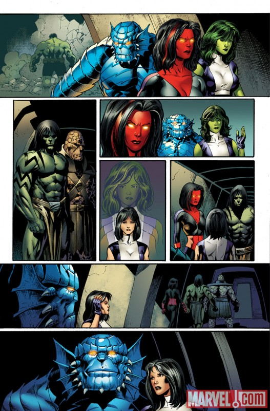 Image Featuring Rick Jones, She-Hulk (Jennifer Walters), Korg