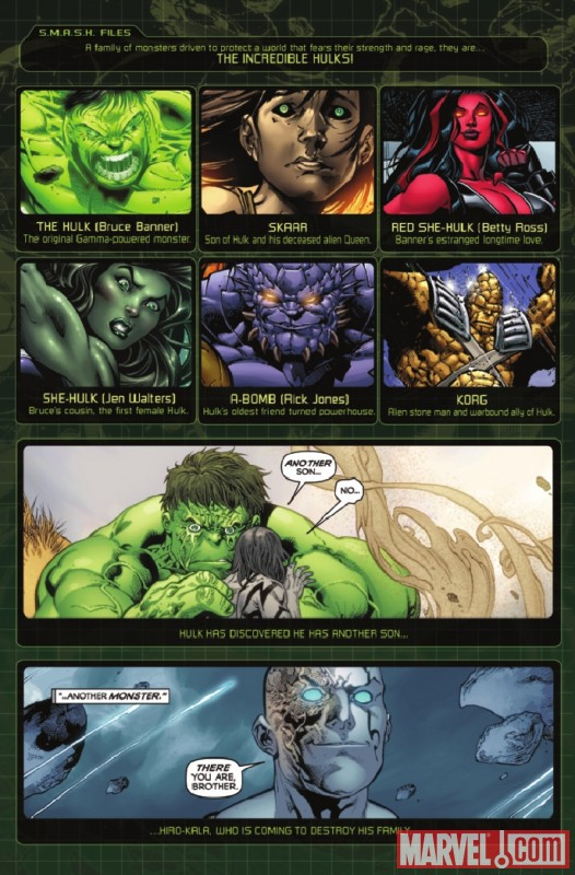 INCREDIBLE HULKS #614 recap page