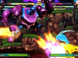Marvel vs. Capcom 3 screenshot: Sentinel vs. Felicia