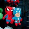 Hulk, Spider-Man, and Captain America plush toys from Funko at Toy Fair 2011