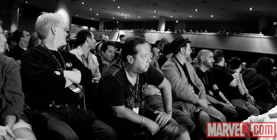 New York Comic Con 2011: Dan Buckley, Joe Quesada, Tom Brevoort and Axel Alonso at the Marvel's The Avengers Panel