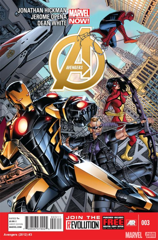 Avengers (2012) #3 cover by Dustin Weaver