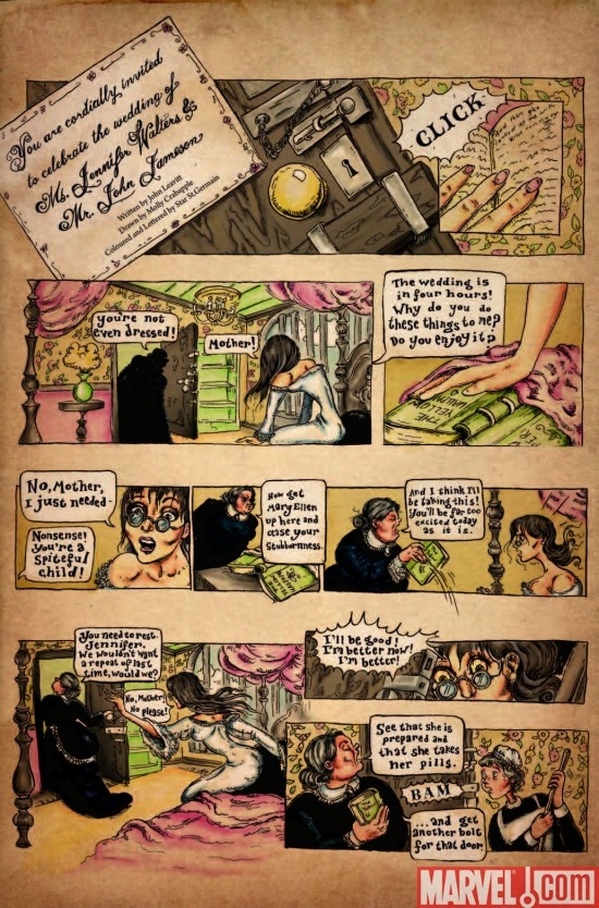 A page from John Leavitt and Molly Crabapples contribution to STRANGE TALES #1