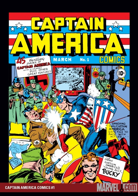 CAPTAIN AMERICA COMICS #1 COVER