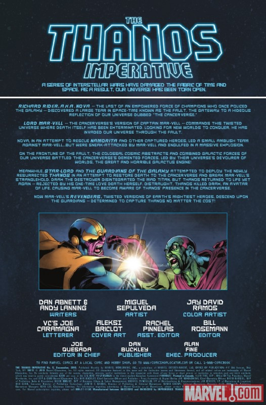 THE THANOS IMPERATIVE #5 recap page