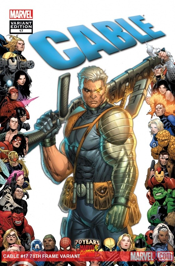 Cable (2008) #17, 70th Frame Variant