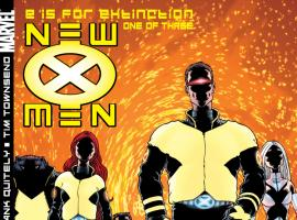 Cover: New X-Men #114, E is for Extinction