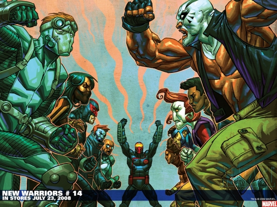 New Warriors (2007) #14 Wallpaper