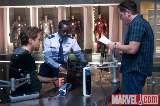 Robert Downey Jr, Don Cheadle and Jon Favreau