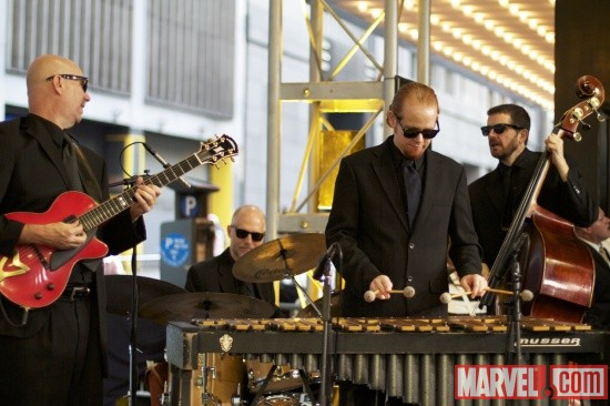 A band at the 'X-Men: First Class' red carpet event in NYC