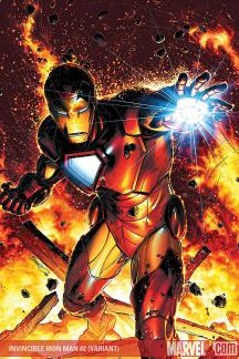 Invincible Iron Man (2008) #2 (PETERSON (50/50 COVER))