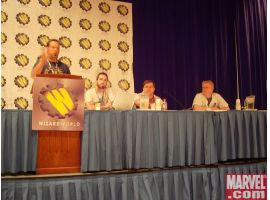 Joe Quesada, Jim McCann, C.B. Cebulski and Dan Buckley