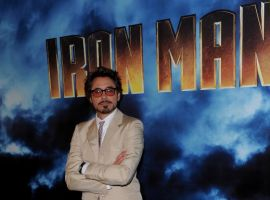 Robert Downey Jr. at the Iron Man 2 press junket