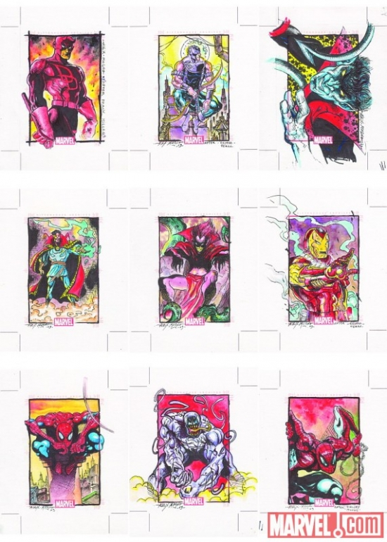 Marvel 70th Anniversary sketch card by Alex Magno