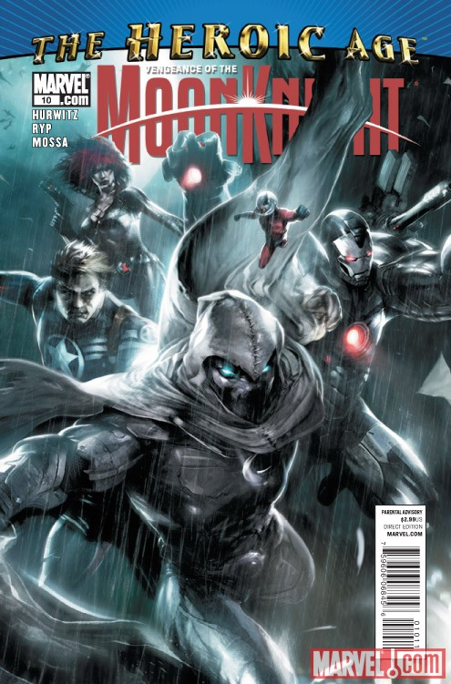 VENGEANCE OF THE MOON KNIGHT #10 cover by Francesco Mattina