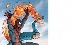 SPIDER-MAN/FANTASTIC FOUR #1 cover by Mario Alberti