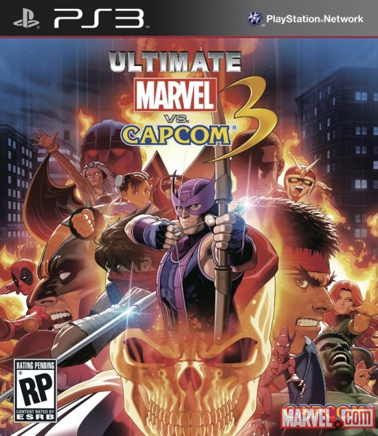 PlayStation 3 box art for Ultimate Marvel vs Capcom 3 by Capcom