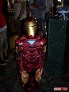 Iron Man cosplayer at the El Capitan Theater in Hollywood for the midnight showing of Marvel's The Avengers