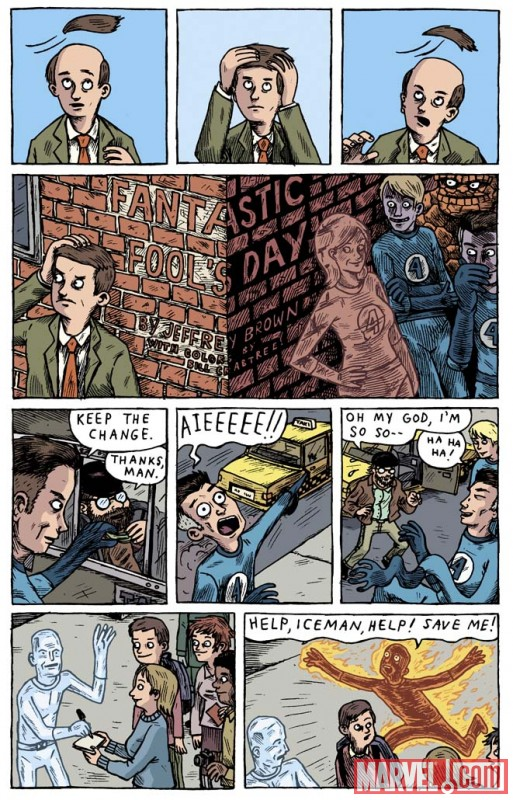 A page from Jeffrey Brown's story in STRANGE TALES #3
