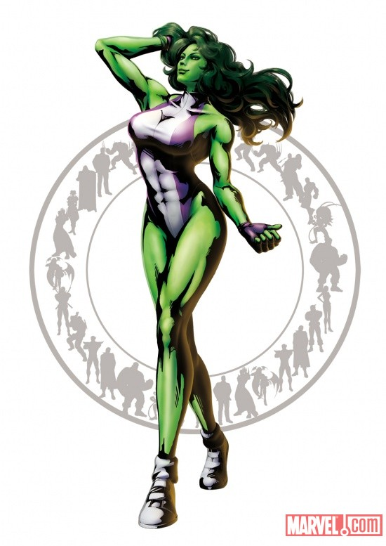 Marvel vs. Capcom 3: She-Hulk Character Art