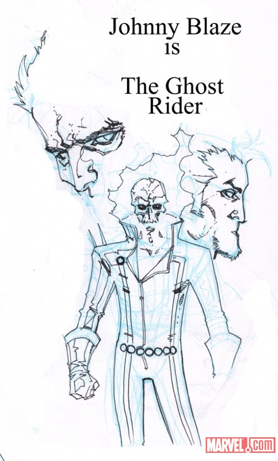 Ghost Rider sketch by Matthew Clark