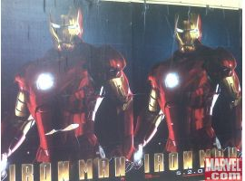 Iron Man posters on 6th Avenue in NYC