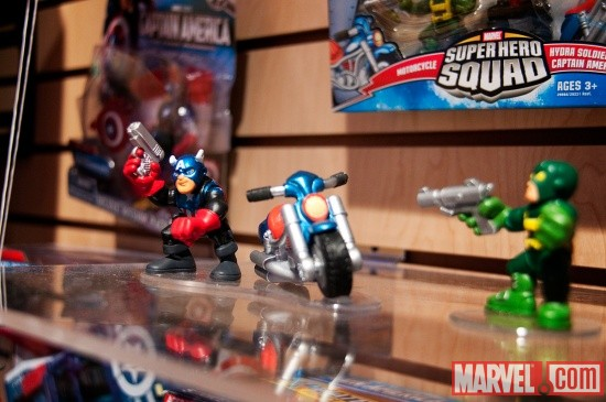 Captain America and Hydra Soldier Super Hero Squad Toys from Hasbro at Toy Fair 2011