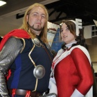San Diego Comic-Con 2011: Thor &amp; Sif Costumers at the Marvel Booth