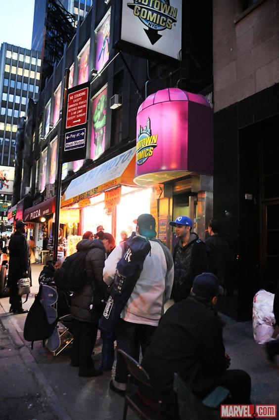 AvX Fans Line Up Outside Midtown Comics