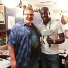 Actor Michael K. Williams with Marvel editor Jordan White