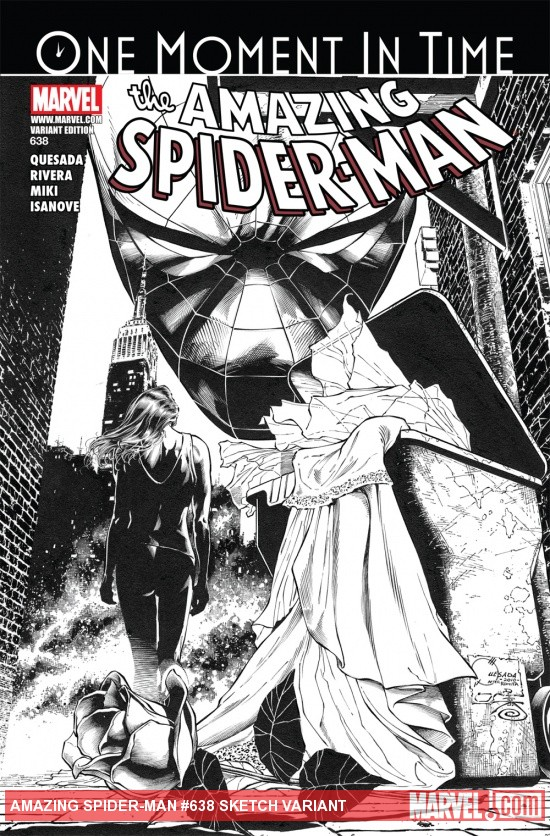 Amazing Spider-Man (1999) #638, SKETCH VARIANT