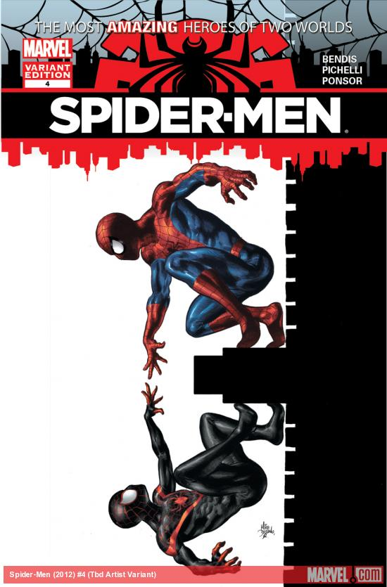 Spider-Men #4 variant cover by Mike Deodato
